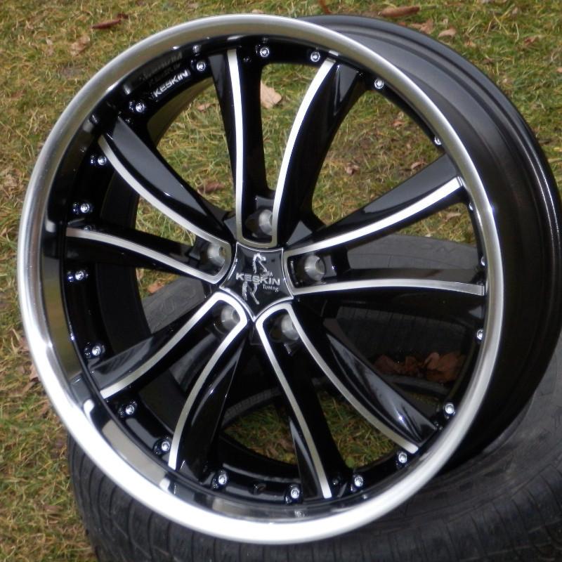KESKIN KT13 8x19 5x112 ET42.00 black front polish