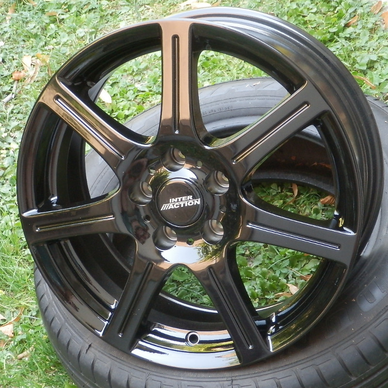 INTER ACTION SIRIUS 6x15 5x100 ET38.00 gloss black