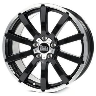 MAM W3 8x18 5x105 ET40.00 black front polish