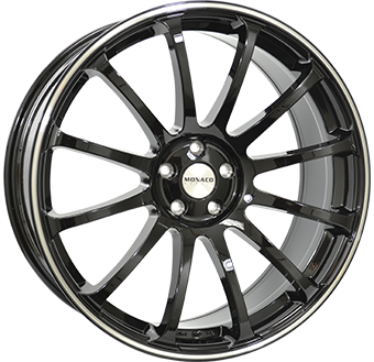 MONACO MASSENET 9,5x22 5x120 ET45.00 gloss black / polished