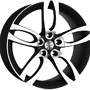 EXTREME X55 7,5x17 5x112 ET35.00 dull black / polish