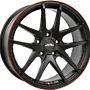 INTER ACTION RED HOT 7,5x17 4x100 ET40.00 dull black / red
