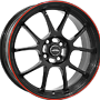 INTER ACTION 6,5X15 I.A. PHOENIX 4/100   ET37 CH73,1 6,5x15 4x100 ET37.00 gloss black / red