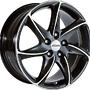 RONAL 8,0X17 RONAL R51 5/108   ET45 CH76 8x17 5x108 ET45.00 black / polished